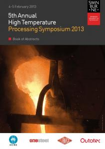 5th Annual High Temperature Processing Symposium ...