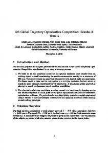 5th Global Trajectory Optimisation Competition