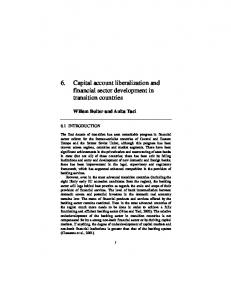 6. Capital account liberalization and financial sector ... - Willem Buiter