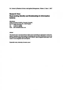 6 Identity - International Journal of Business Science and Applied ...