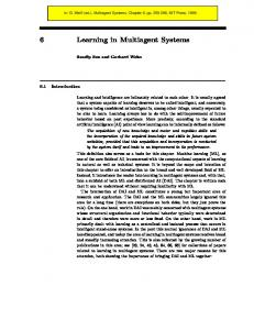 6 Learning in Multiagent Systems