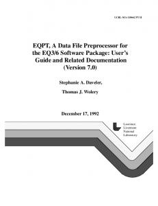 6 Software Package - WIPP