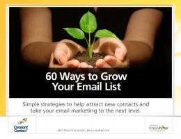 60 Ways to Grow Your Email List - Constant Contact