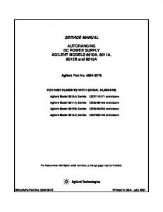 6012B Service Manual - UCSD Department of Physics