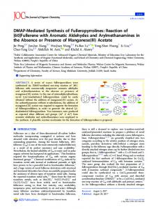 [60]Fullerene with Aromatic Aldehydes and ... - ACS Publications