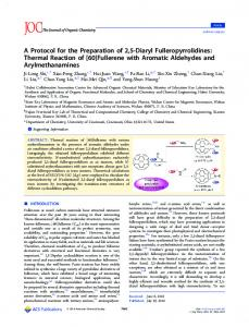 [60]Fullerene with Aromatic Aldehydes and - ACS Publications