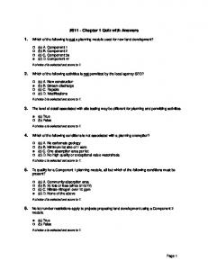 #611 - Chapter 1 Quiz with Answers
