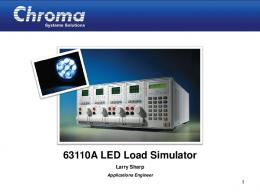 63110A LED Load Operating Instructions Demo - Chroma Systems ...