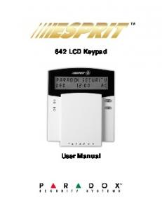 642 LCD Keypad : User Manual - ADT Security