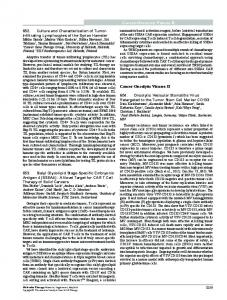 652. Culture and Characterization of Tumor-Infiltrating Lymphocytes of ...