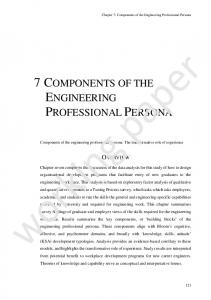7 components of the engineering professional persona