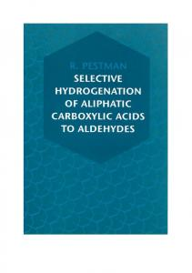 7. Reactions of aliphatic acids on oxides