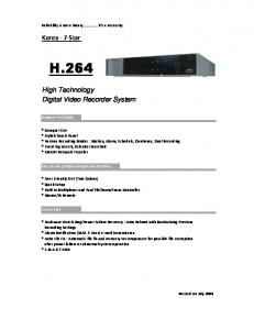 7-Star High Technology Digital Video Recorder System - Tri-Tech ...