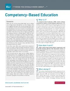 7 Things You Should Know About Competency