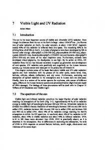 7 Visible Light and UV Radiation
