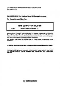 Xtremepapers olevel past papers mafiadoc 7010 computer studies olevel past papers urtaz Image collections