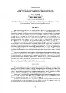 73- Trace Metals in the Surface Sediments of the South ... - SEAFDEC