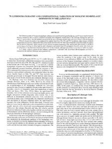 78. Lithostratigraphy and Compositional Variation of Neogene