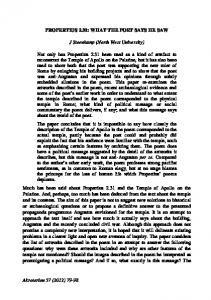 79-98 PROPERTIUS 2.31 - Akroterion: Journal for