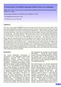 79 Cross-beta structure of an amyloid-forming peptide ... - CiteSeerX