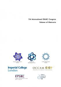 7th International ISAAC Congress Volume of Abstracts