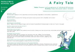 8 A Fairy Tale: Class discussion about inclusion