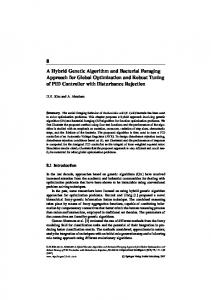 8 A Hybrid Genetic Algorithm and Bacterial Foraging ... - CiteSeerX