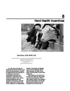 8 Herd Health Incentives
