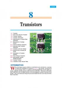 8. Transistors - Talking Electronics