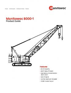 8000-1 Product Guide - Manitowoc Cranes