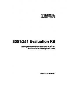 8051/251 Evaluation Kit