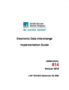 814 v. 4010 Guide - Pacific Gas and Electric Company