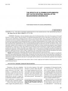 87 the effects of glutamine-supplemented diet on the ... - SciELO