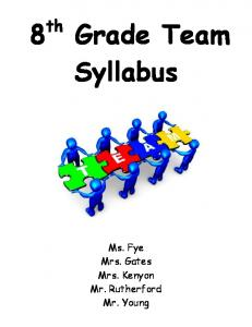8th Grade Team Syllabus