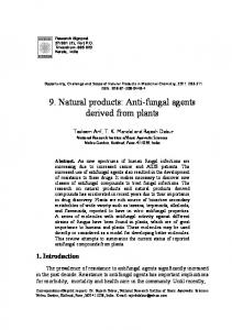 9. Natural products: Anti-fungal agents derived from plants
