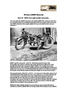 90 Years of BMW Motorrad The R 39, BMWs first single cylinder ...