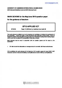 9713 APPLIED ICT www.maxpapers.com