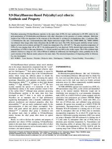 9,9-Diarylfluorene-Based Poly(alkyl aryl ether)s: Synthesis ... - Nature