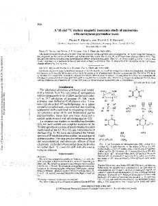 A 1H and 13C nuclear magnetic resonance study of
