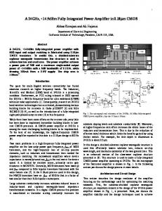 A 24GHz, +14.5dBm Fully-Integrated Power Amplifier in ... - CiteSeerX