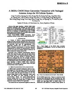 A 28GHz CMOS direct conversion transceiver with ... - IEEE Xplore