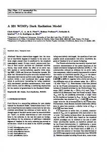 A 331 WIMPy Dark Radiation Model
