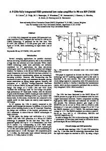 A 5 GHz fully integrated ESD-protected low-noise ... - CiteSeerX