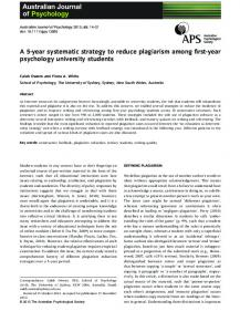 A 5year systematic strategy to reduce plagiarism ... - Wiley Online Library
