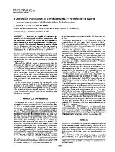 a-Amanitin resistance is developmentally regulated in ... - Europe PMC