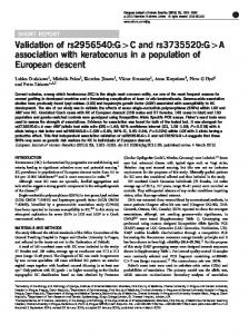 A association with keratoconus in a population of European ... - Nature