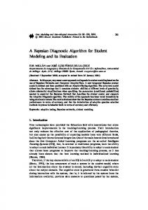 A Bayesian Diagnostic Algorithm for Student Modeling and its ...