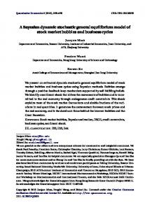 A Bayesian dynamic stochastic general equilibrium model of stock ...