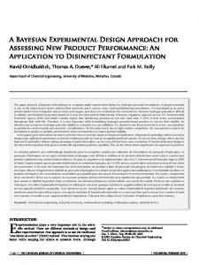 A Bayesian experimental design approach for ... - Wiley Online Library