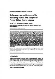 A Bayesian hierarchical model for monitoring harbor ... - Springer Link